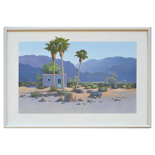 Adobe with Palm Trees
