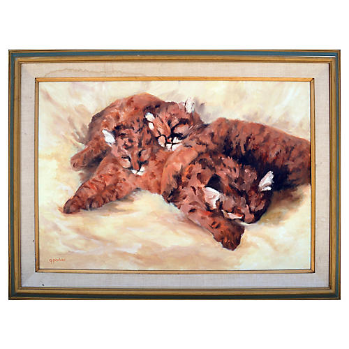 Cheetah Cubs by Gay Porter