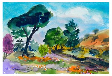 Purple & Orange Fields by Les Anderson