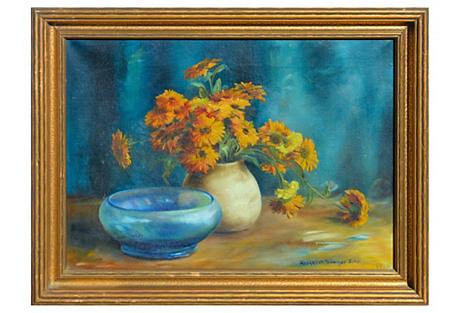 Autumn Mums by Margaret Sawyer John