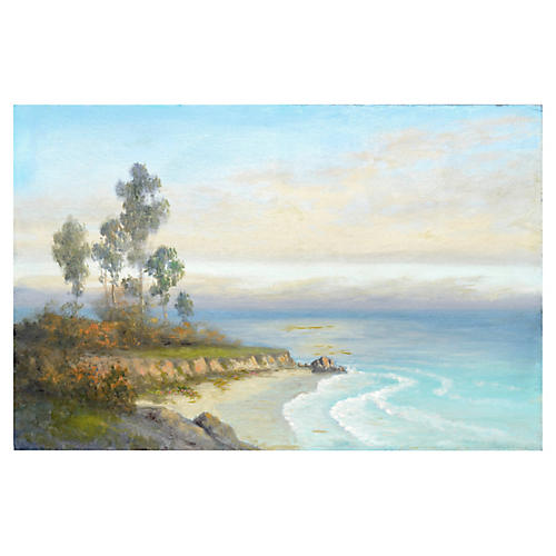 Mid Century Carmel Coast and Eucalyptus