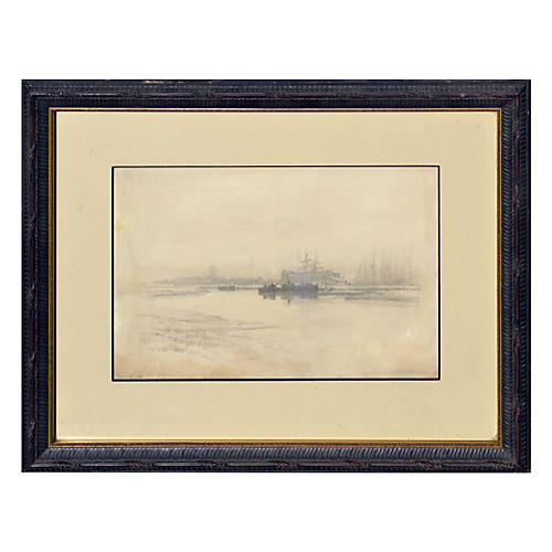 Boats at San Francisco Port 1887