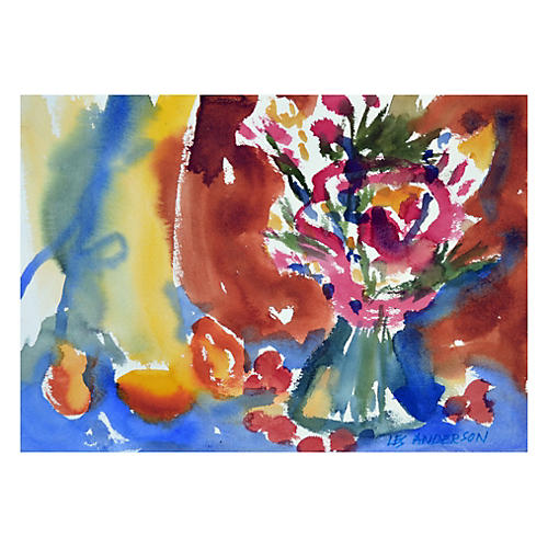 Abstract Flowers by Les Anderson
