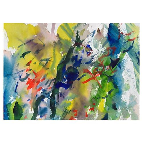Yellow & Green Garden Abstract Mix
