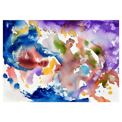 Blue & Purple Swirl Abstract