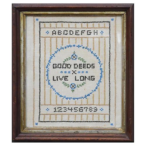 Good Deeds Live Long Sampler