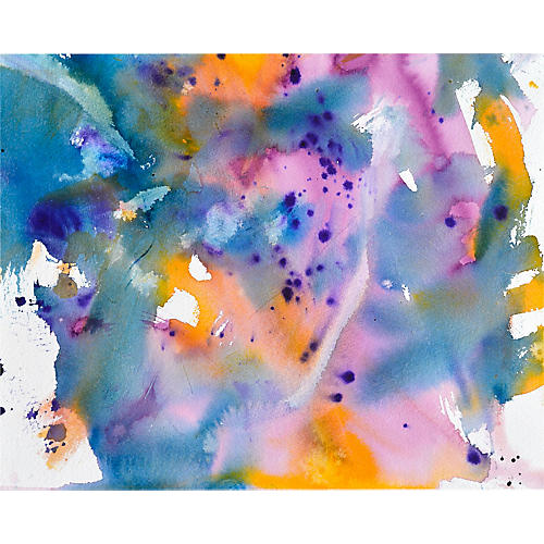 Yellow & Blue Abstract Mix