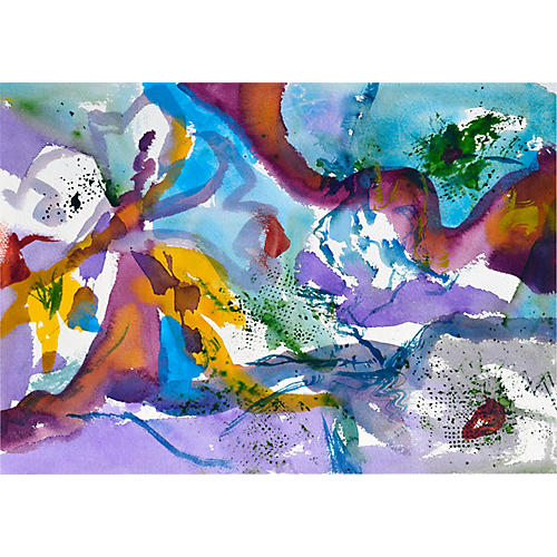 Purple & Blue Beach Abstract