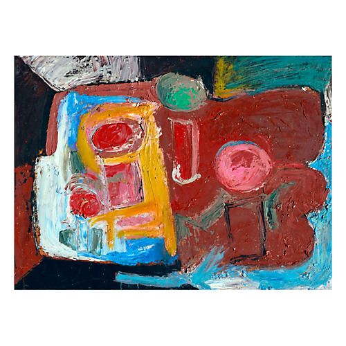 Abstract in Red by Kristin Cohen