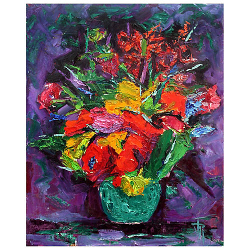 Colorful Flowers by Virginia Rogers