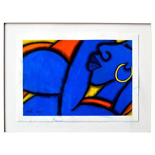 Blue Figurative