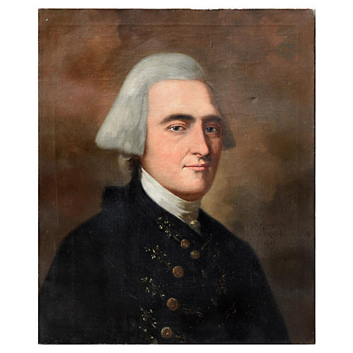 Portrait of John Hancock by John Monaco