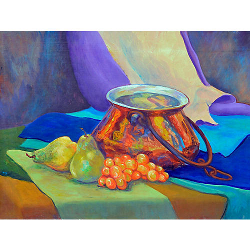 Pears and Grapes Still Life