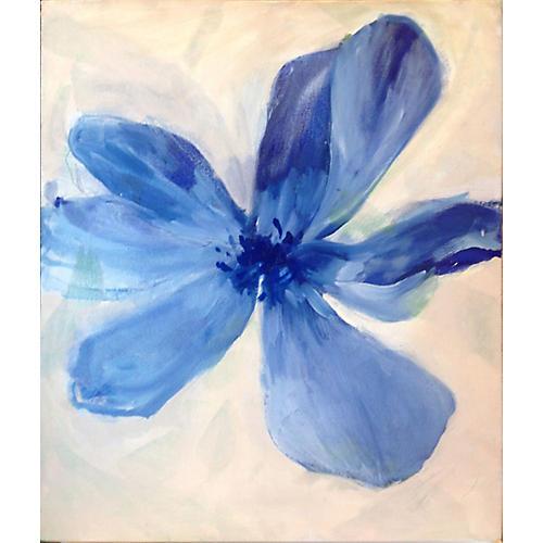 Blue Flower Zen by Noriko Ishigami