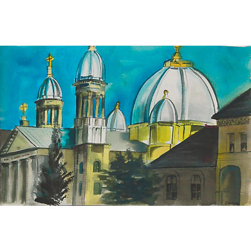 Church Domes by Diane Baldwin