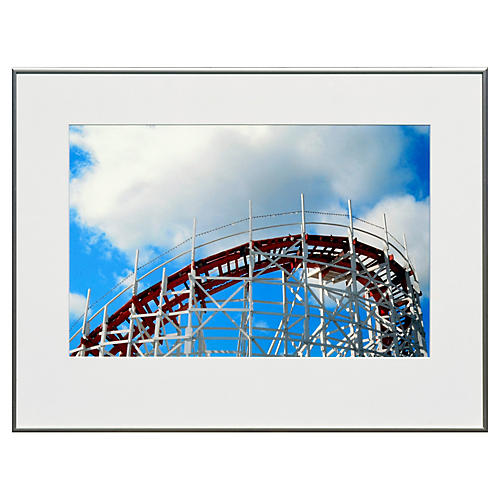 Blue Rectangle-Santa Cruz Roller Coaster