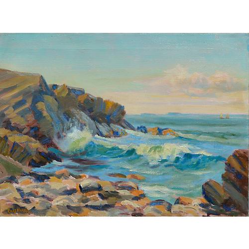 Crashing Waves by Charles Morris