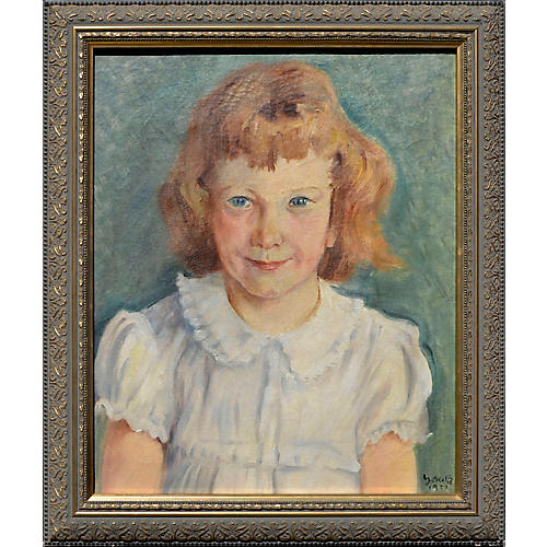 Midcentury Portrait of a Young Girl