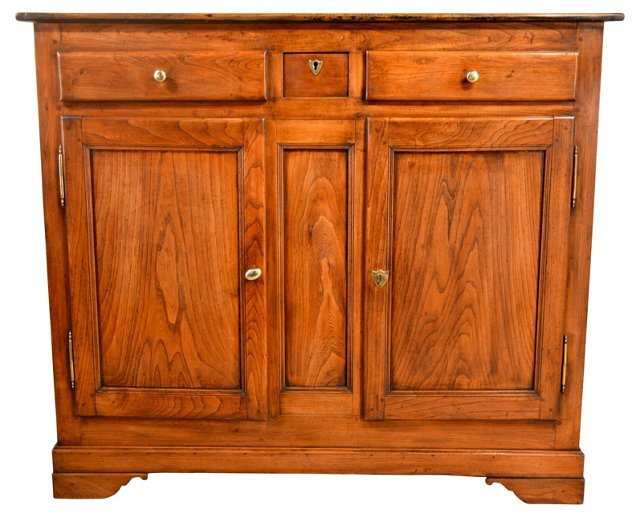 Early-19th-C. French Elm Sideboard