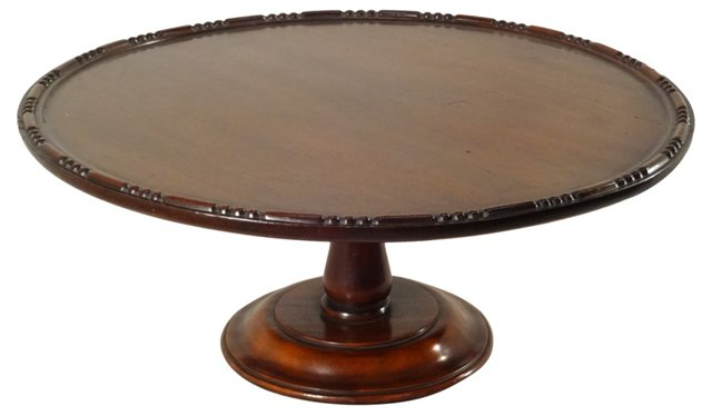 19th-C. English Mahogany Lazy Susan
