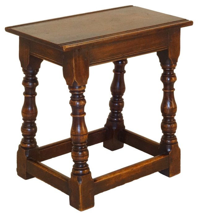 English Joint Stool, C. 1870