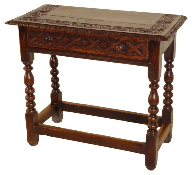18th-C. English Side Table
