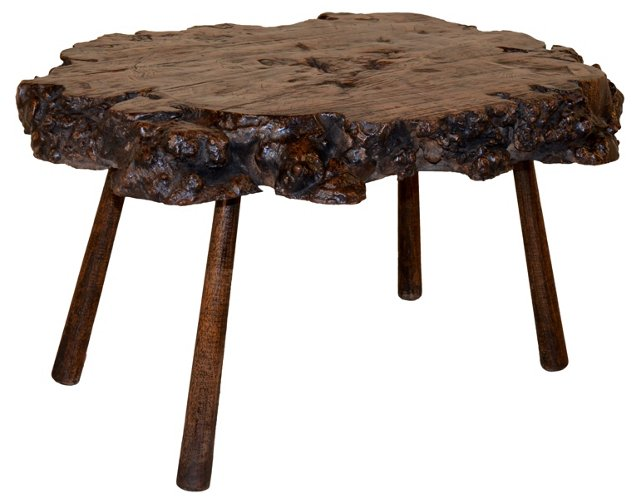 French Burled Walnut Cocktail Table