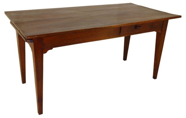 18th-C. French Table w/ Bread Board