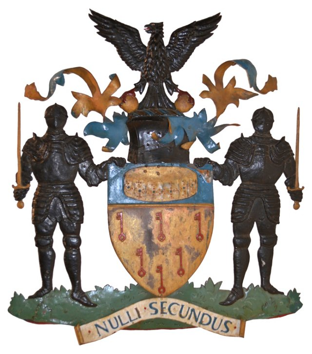 19th-C. English Coat of Arms