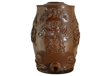 19th-C English Spirit Barrel