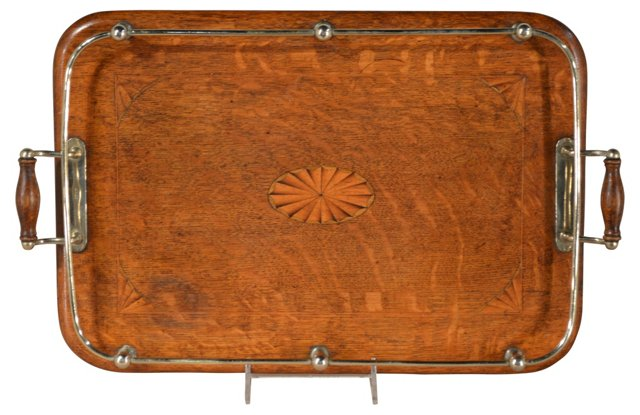 Inlaid Tea Tray C. 1900