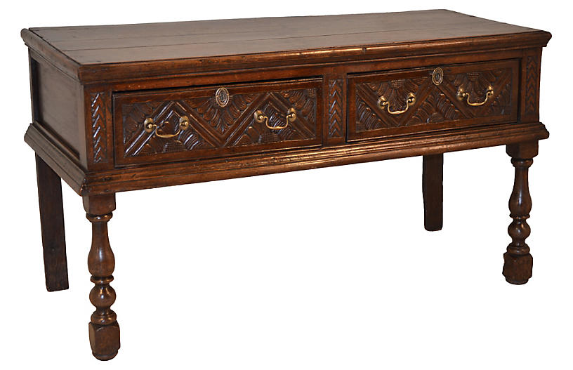 17th-C. English Oak Server