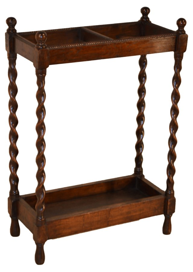 19th-C. English Cane Stand
