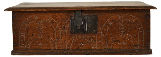 18th-C. English Bible Box