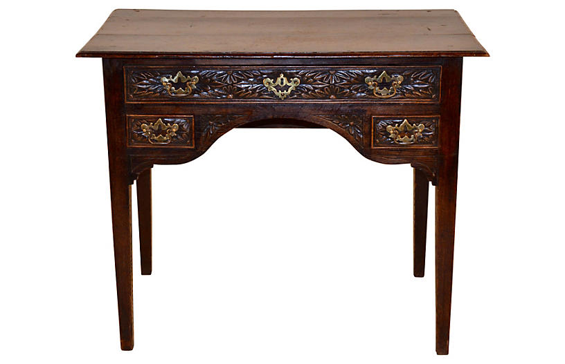 18th-C. English Carved Lowboy
