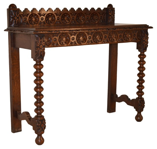 19th-C. English Carved Console