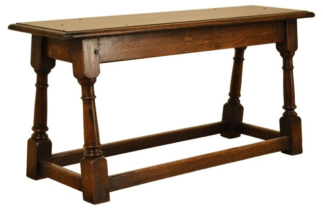 19th-C. English Oak Joint Bench