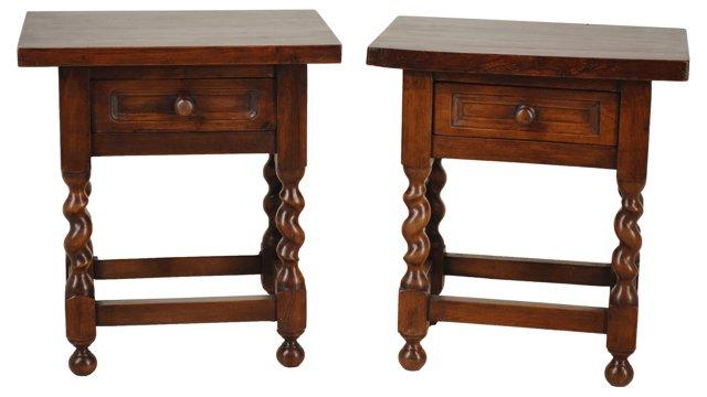 19th-C. French Side Tables, Pair