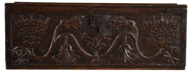 17th-C. English Oak Bible Box