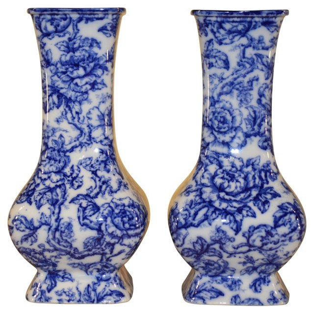 English Cavendish Vases, C. 1910, Pair