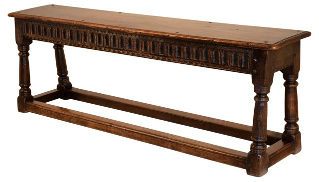 Late-17th-C. English Joint Bench