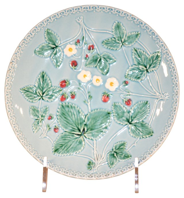 Majolica Plate with Flowers