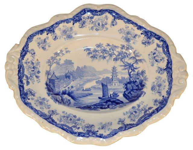 19th-C. Minton    Platter