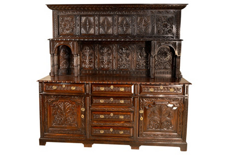 Welsh Carved Oak Dresser, c. 1720