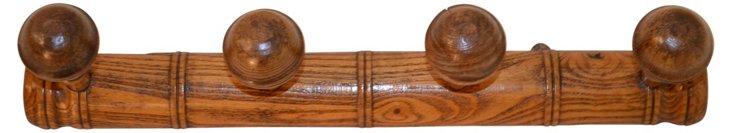 19th-C. French 4-Hook Rack