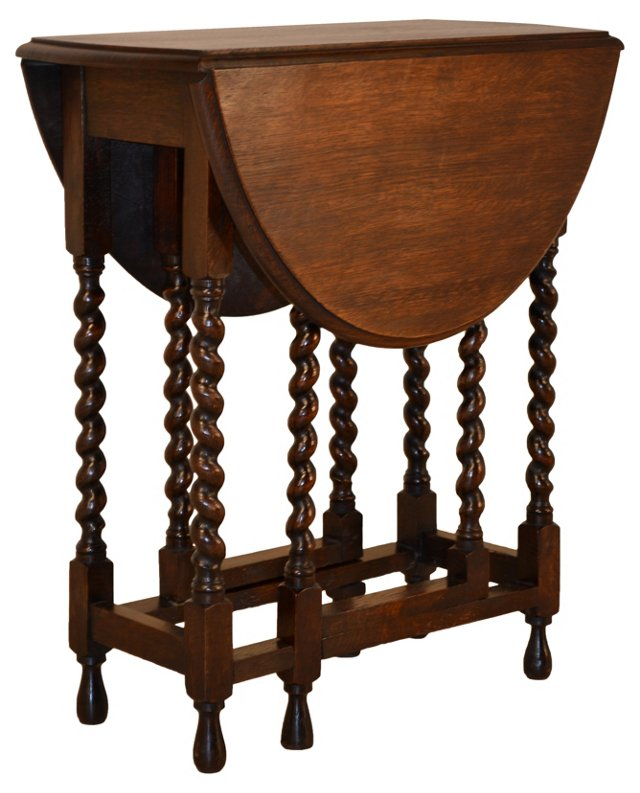English   Oak   Gate-Leg Table, C. 1900