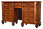 19th-C. English Bird's-Eye Maple Console