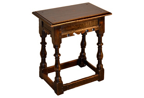 18th-C. English Stool