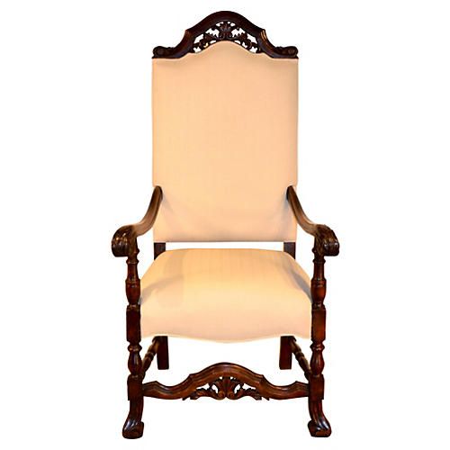 18th-C. Flemish Chair