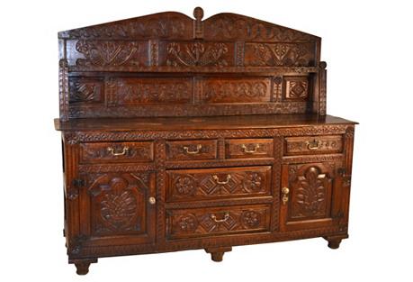 17th-C. Welsh Oak Dresser